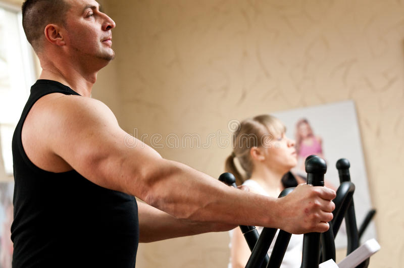 Fitness club stock photography