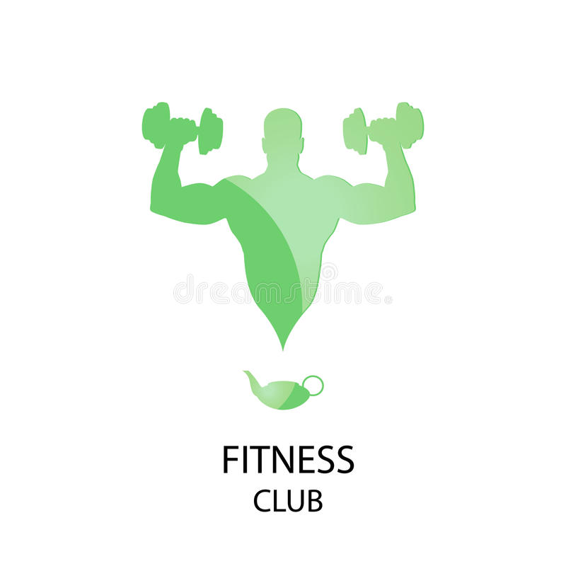 Fitness-Club-Ikone stock abbildung