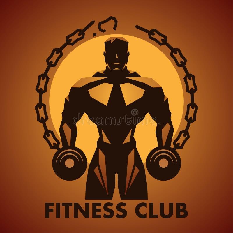 Fitness-Club-Logo stock abbildung