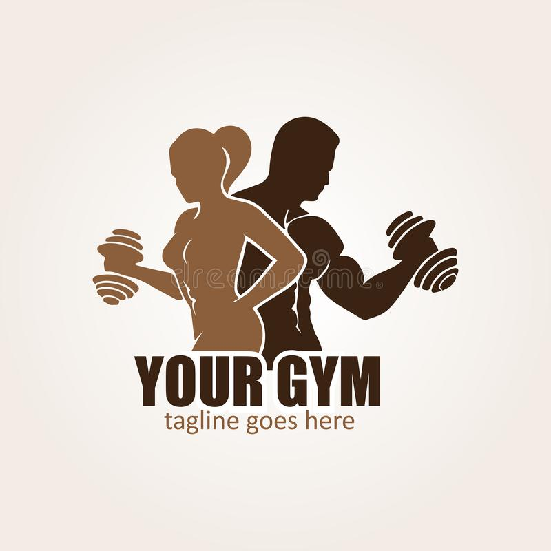 Fitness club logo design template vector stock images