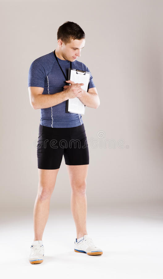 Download Fitness coach stock image. Image of trainer, sport, personal - 34988701