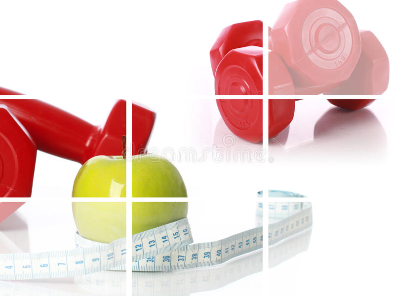 Fitness Collage. Stock Photography