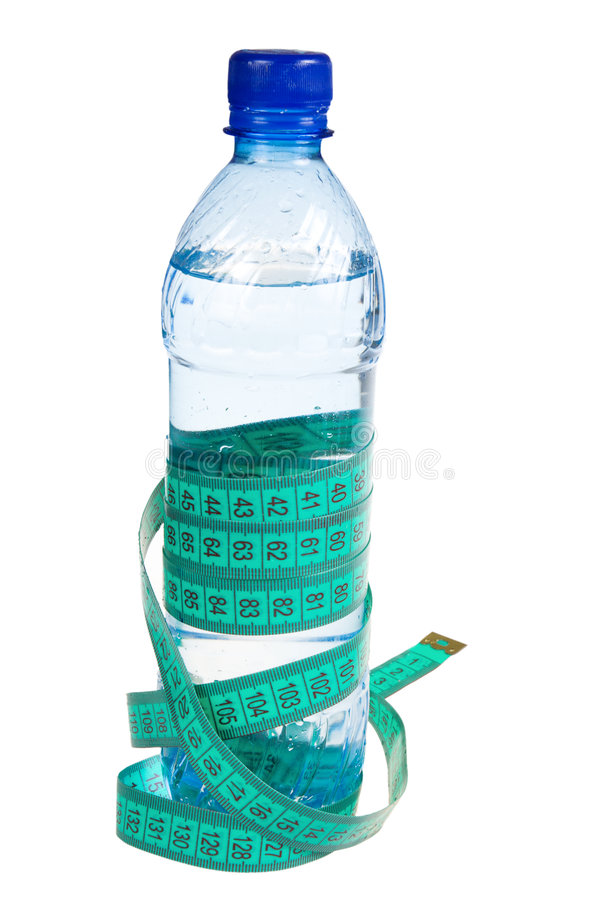 Download Fitness Concept:Bottle With A Roulette (isolated) Stock Photo - Image: 4288116