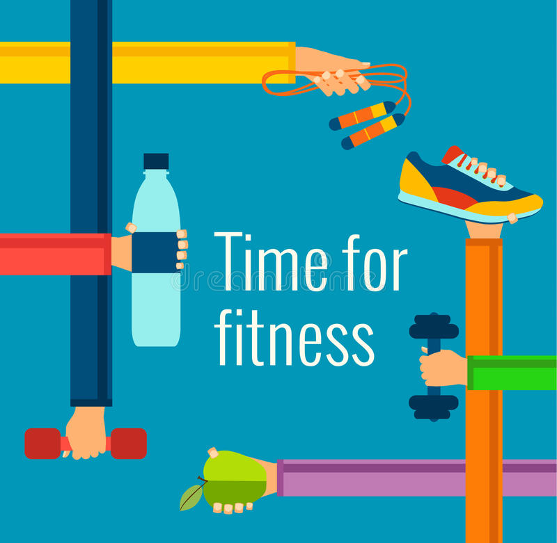 Fitness concept. Flat Isolated vector illustration and modern design element vector illustration
