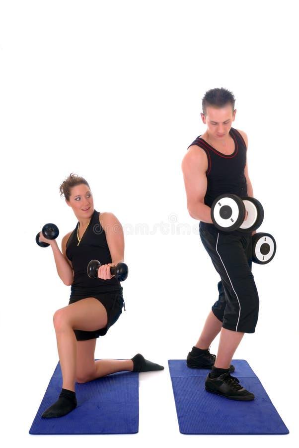 Fitness couple royalty free stock photo