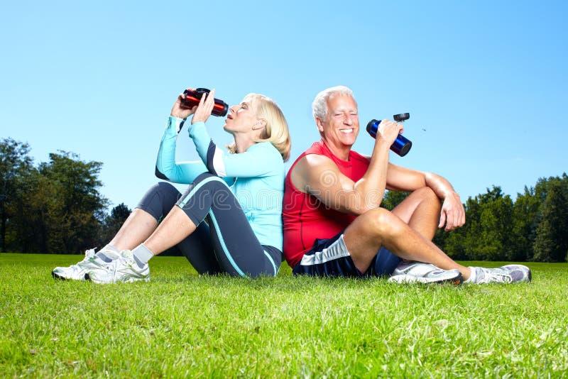 Fitness couple. royalty free stock photo