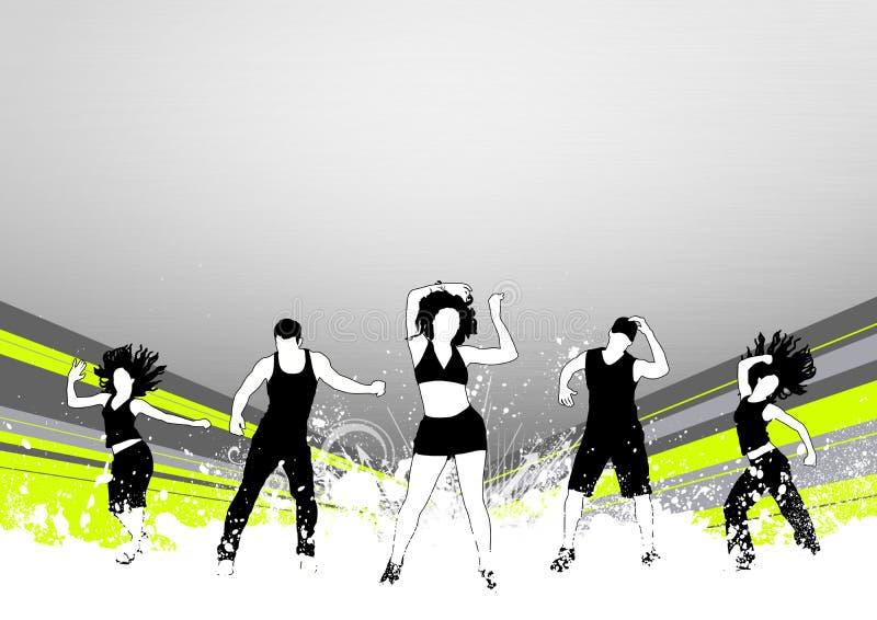 Fitness dance vector illustration