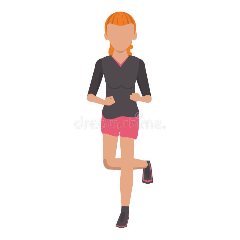 Fitness de trainingbeeldverhaal van de sportlevensstijl stock illustratie