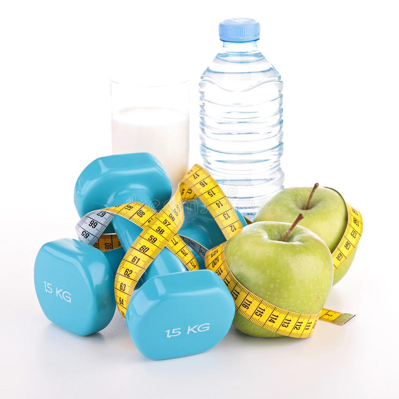 Fitness and diet food stock image