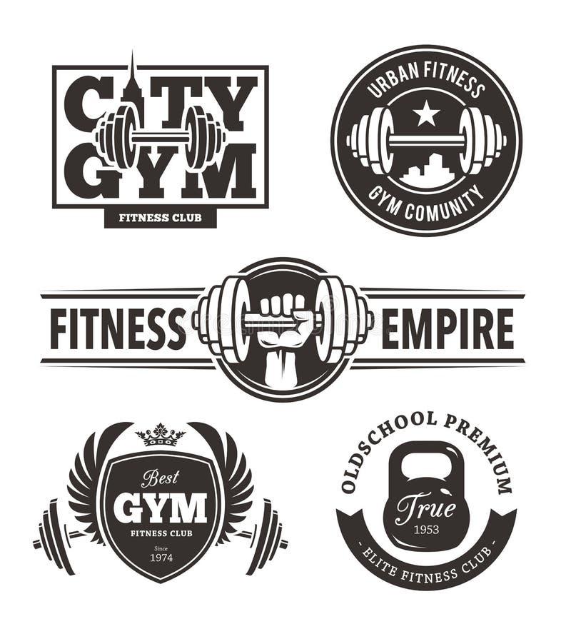 Fitness Emblems Set royalty free illustration