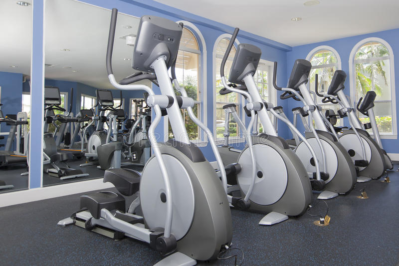 Fitness equipment, gym stock image
