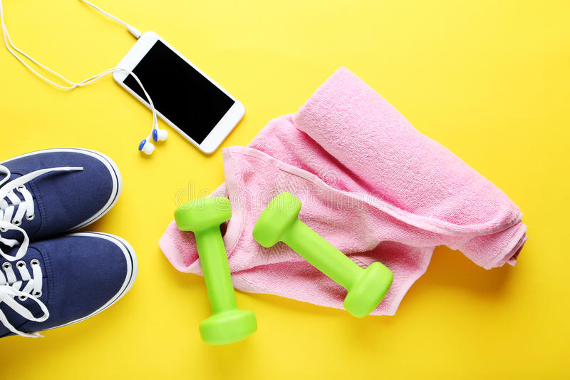 Fitness equipment stock photo