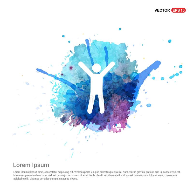Fitness Exercise Icon - Watercolor Background royalty free illustration