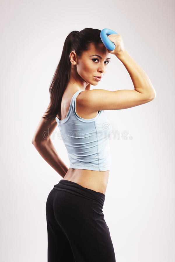 Fitness and exercising stock photo