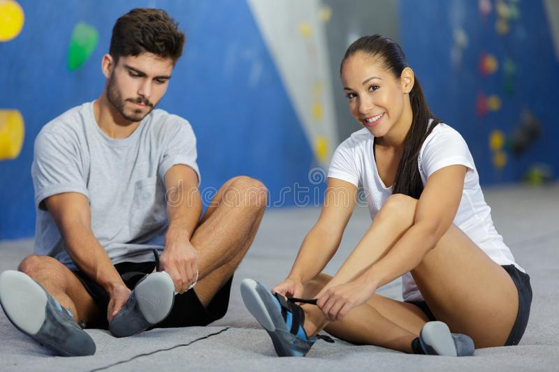 Fitness extreme sport bouldering people concept stock image