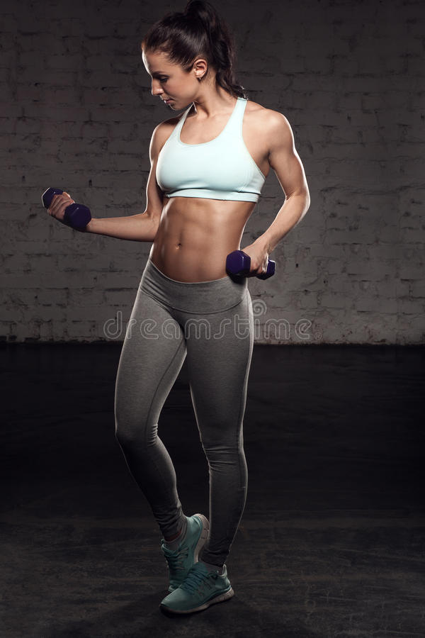 fitness woman body fitness female woman with muscular body