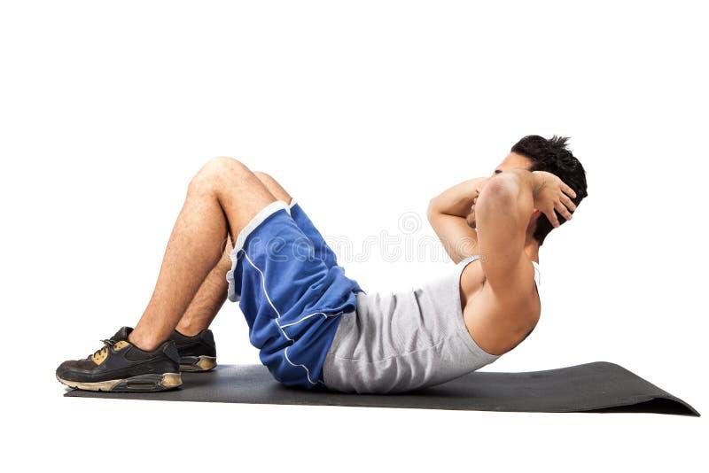 Fitness on the floor stock photos