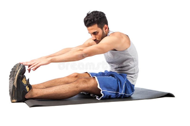 Fitness on the floor royalty free stock image