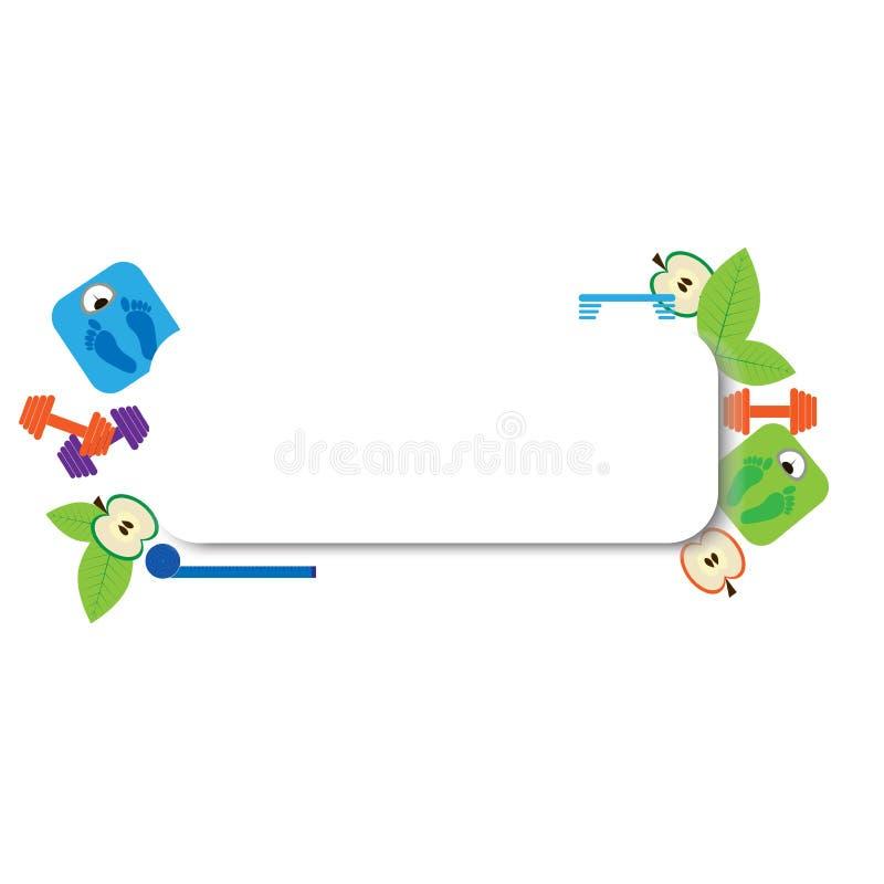 Fitness frame vector illustration