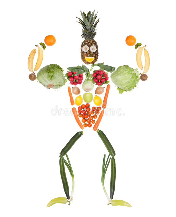 Fitness fruits and vegetables body royalty free stock photography