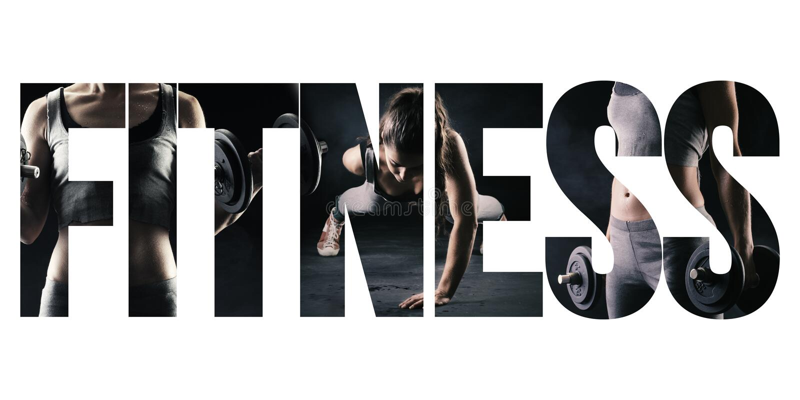 Fitness, gezond levensstijl en sportconcept stock afbeelding