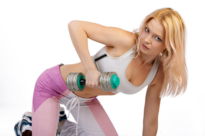 Download Fitness girl. stock photo. Image of health, healthy, body - 614012