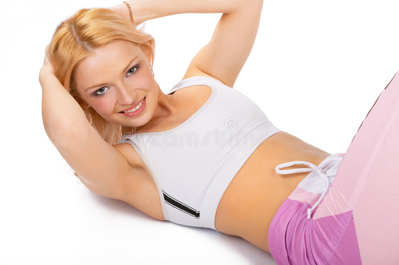 Fitness girl. royalty free stock photography
