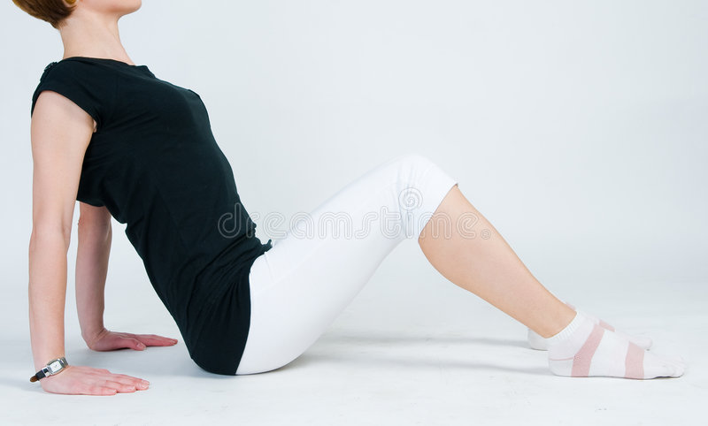 Fitness Girl Exercising Royalty Free Stock Image