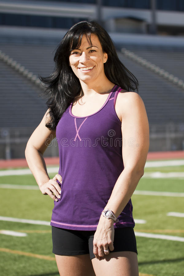 Download Fitness Girl on Field stock photo. Image of young, happy - 24318316
