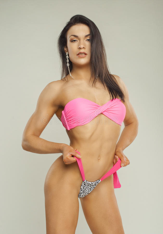 Fitness girl with nice abdominals royalty free stock image
