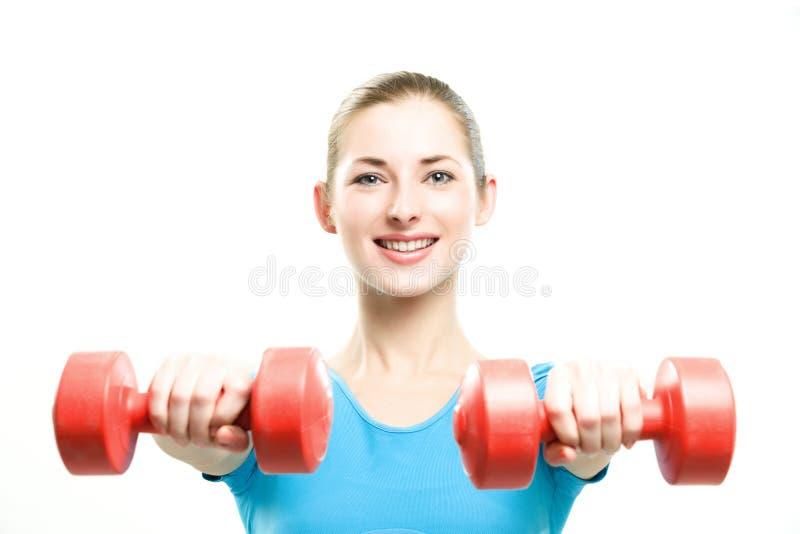 Fitness girl posing stock images