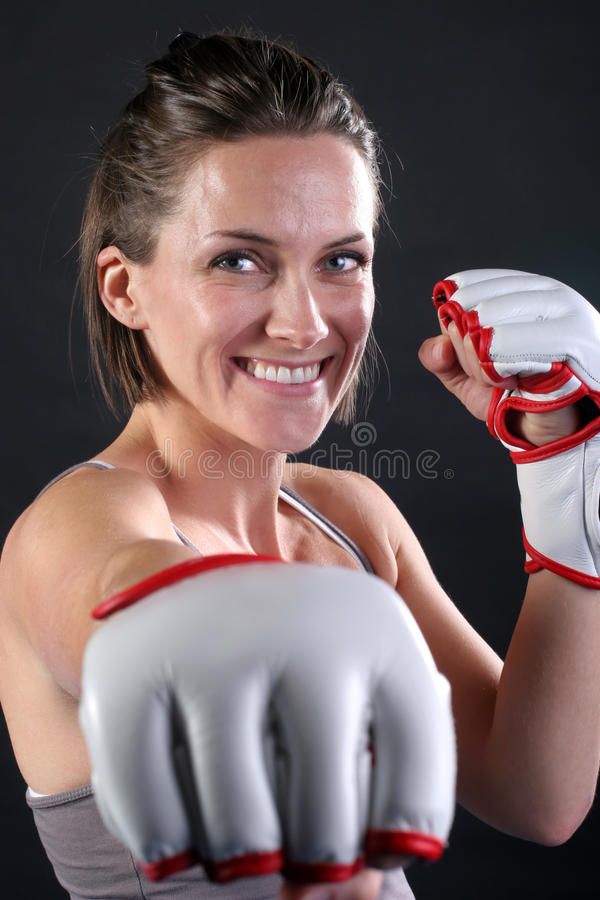 Free Fitness Girl Punch 1 Stock Photo - 19383520