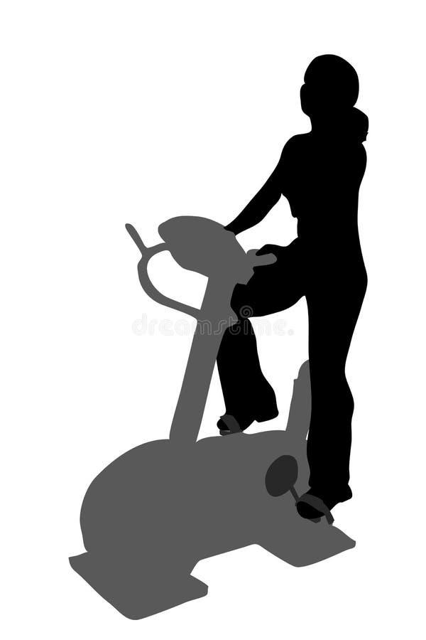 Fitness girl silhouette vector illustration