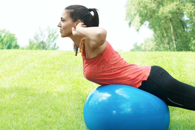 Download Fitness girl stretching stock image. Image of summer - 19909939