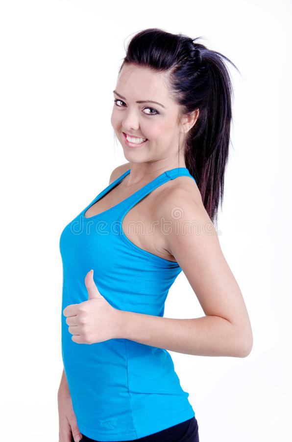 Fitness girl stock images