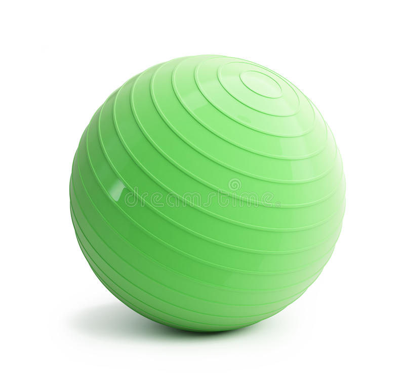 Download Fitness green ball stock illustration. Image of loss - 28272782