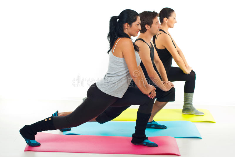 Fitness group of people royalty free stock images