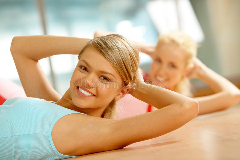 Download Fitness in gym stock image. Image of girl, feminine, expression - 15738263
