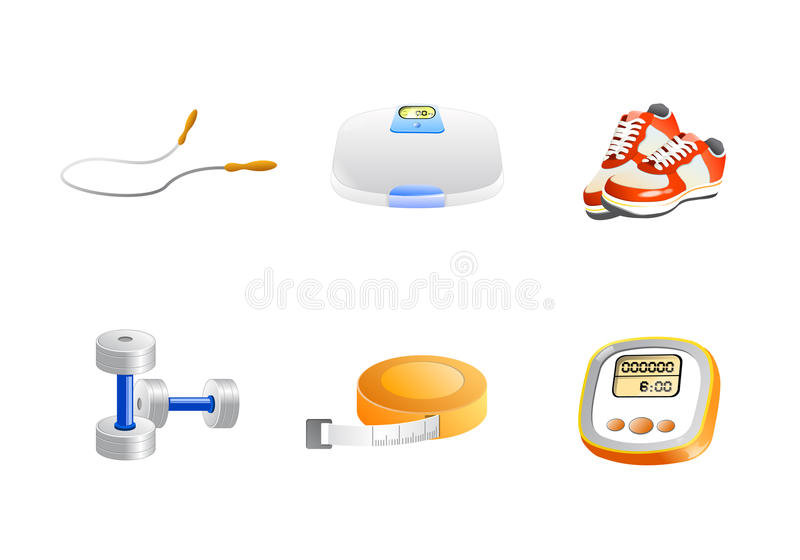 Download Fitness And Gym Icons Vector Royalty Free Stock Images - Image: 11062559