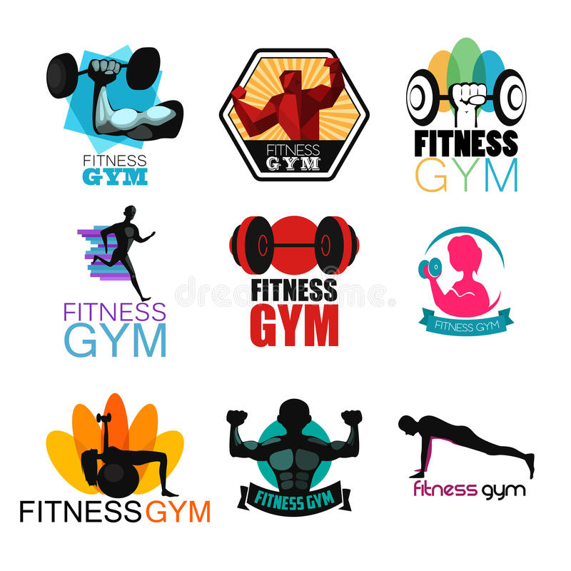 Fitness Gym Logos. A vector illustration of Fitness Gym Logos vector illustration