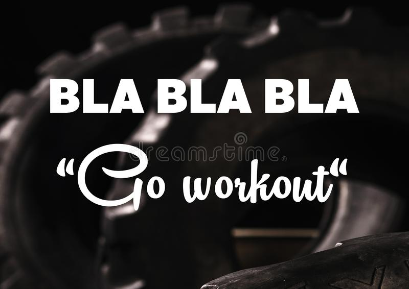 Fitness And Gym Motivation Quote Stock Image Image Of Healthy Background 126085089