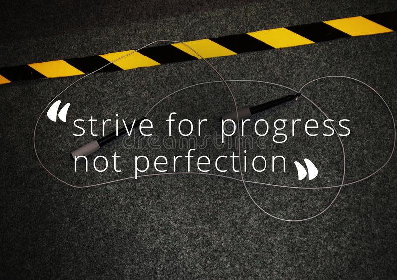Fitness and gym motivation quote stock photos