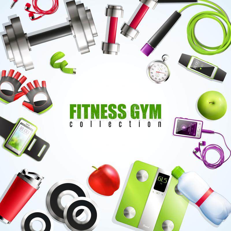 Fitness Gym Composition stock illustration