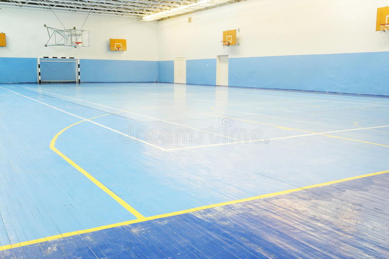 Fitness hall. Interior of a fitness hall stock photography