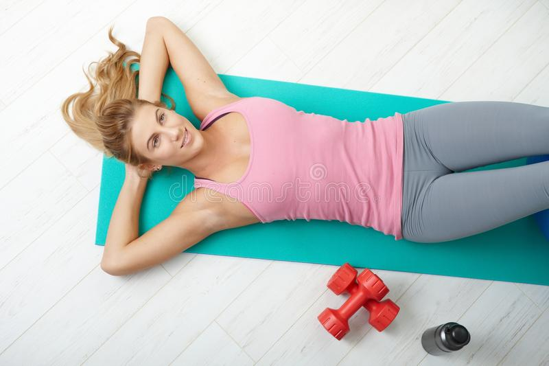 Download Fitness At Home Royalty Free Stock Photo - Image: 13083115
