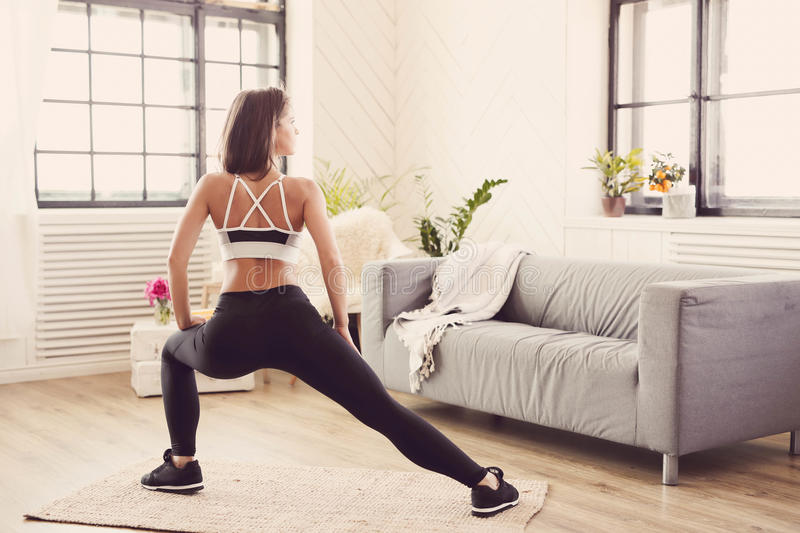 Fitness at home royalty free stock image