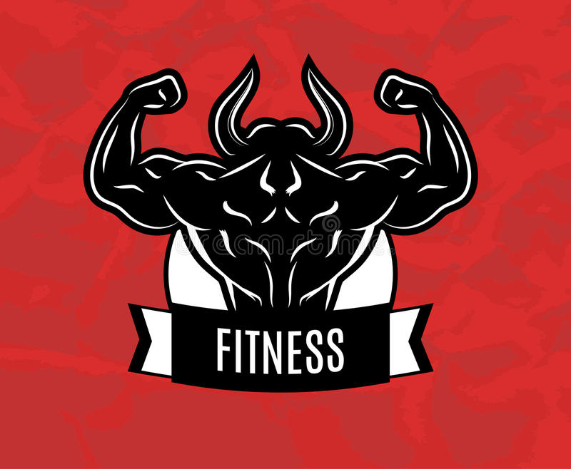 Fitness. Icon for fitness club center gym royalty free illustration