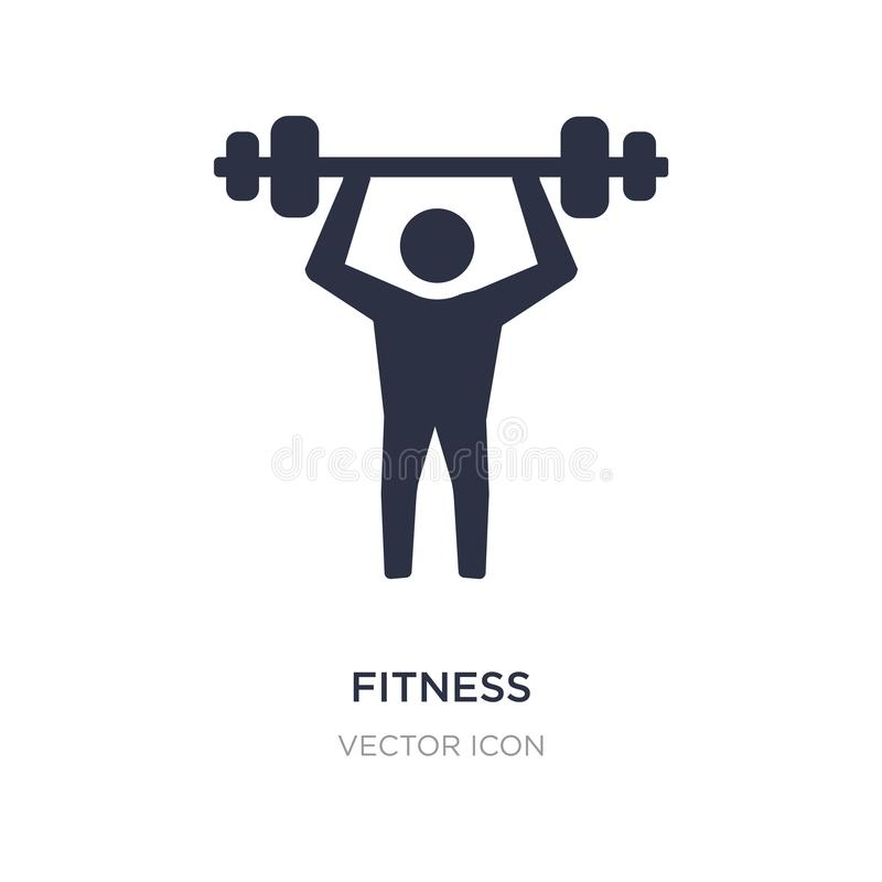 Fitness icon on white background. Simple element illustration from Beauty concept. Fitness sign icon symbol design vector illustration
