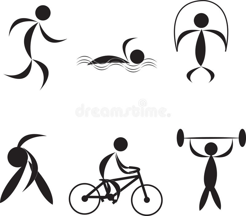 Download Fitness icons stock vector. Image of exercise, competitive - 14369643