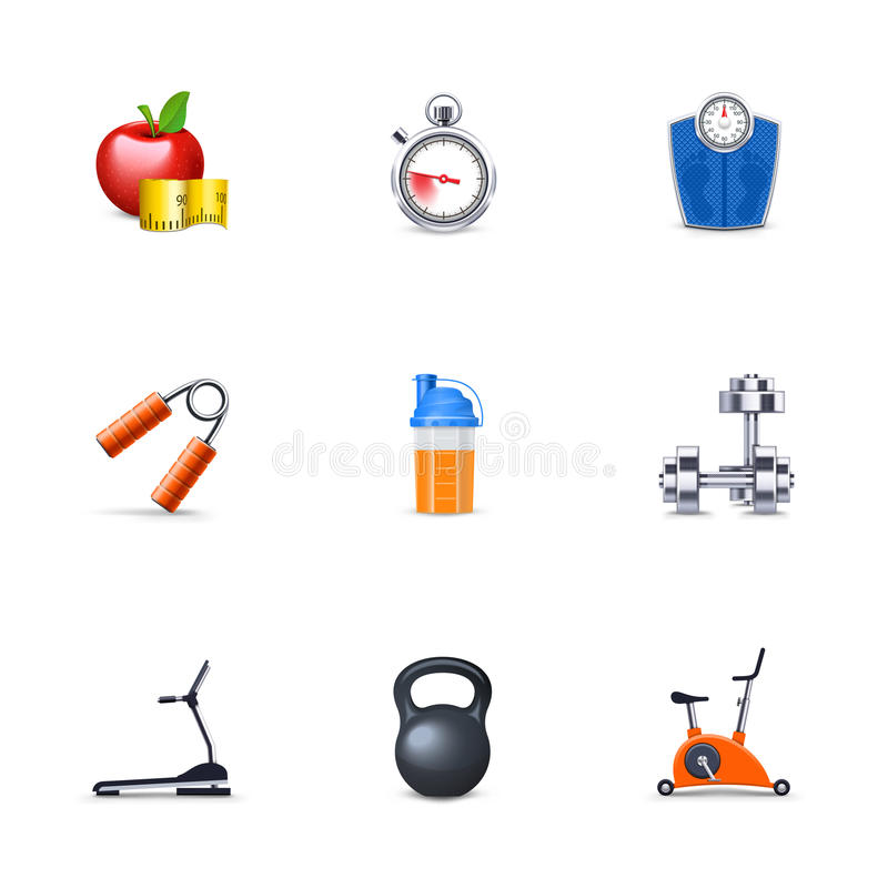 Fitness icons vector illustration